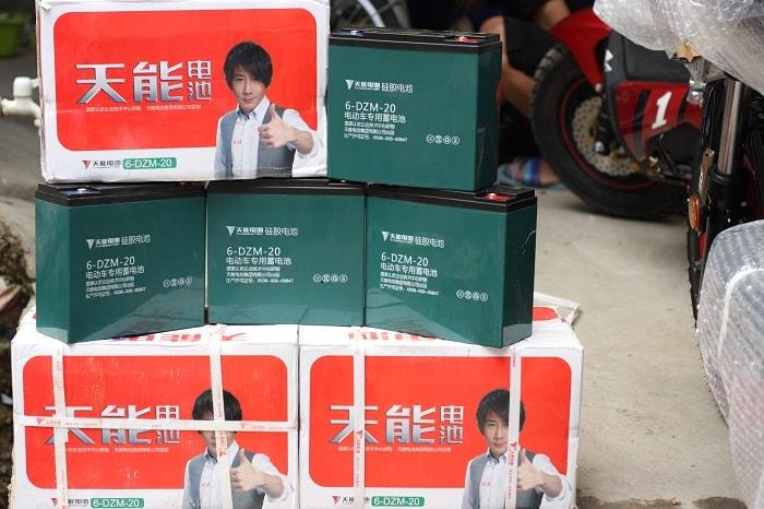 ắc quy xe máy điện Tianneng 48V - 20Ah