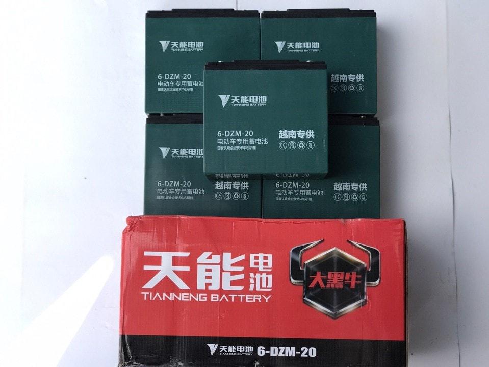 ắc quy xe máy điện Tianneng 60V - 20Ah