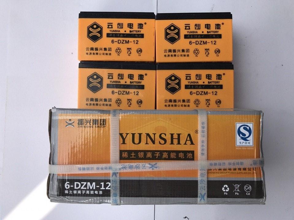 ắc quy xe đạp điện Yunsha 48V - 12Ah
