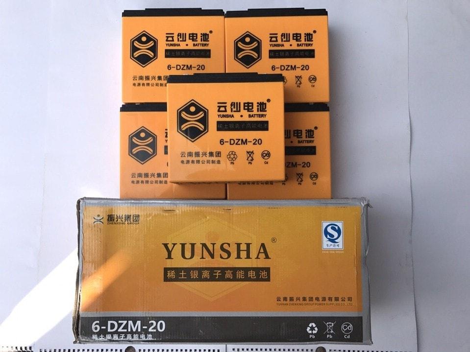 ắc quy xe máy điện Yunsha 60V - 20Ah