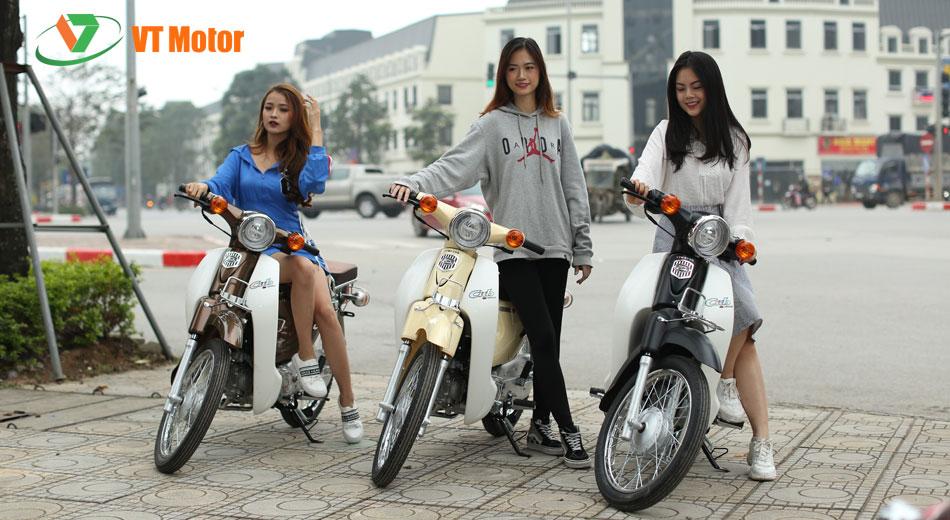 XE CUB 81 VTMOTOR XANH THAN
