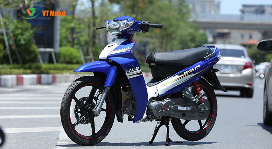 xe máy si halim 50cc vành đúc xanh trắng