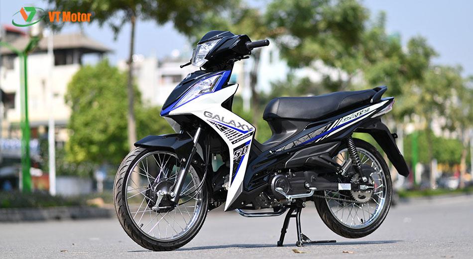 xe máy Galaxy 50cc SYM xanh trắng