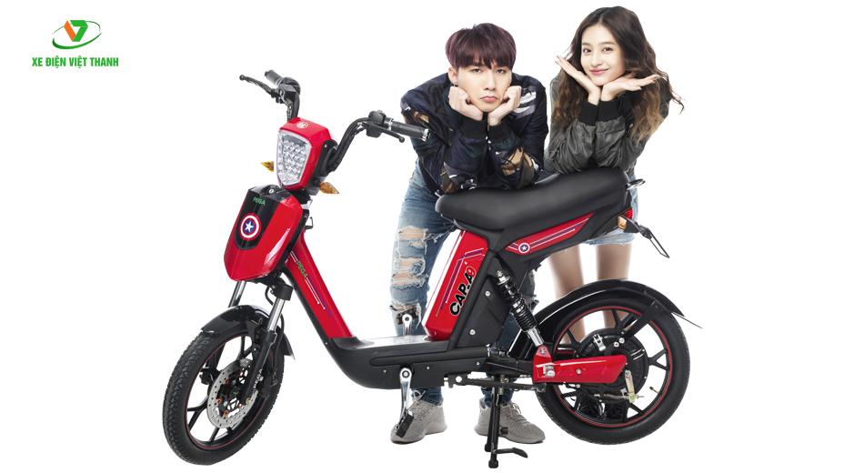 xe đạp điện cap a9 đỏ mẫu