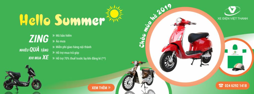 banner khuyến mại chào hè 2019